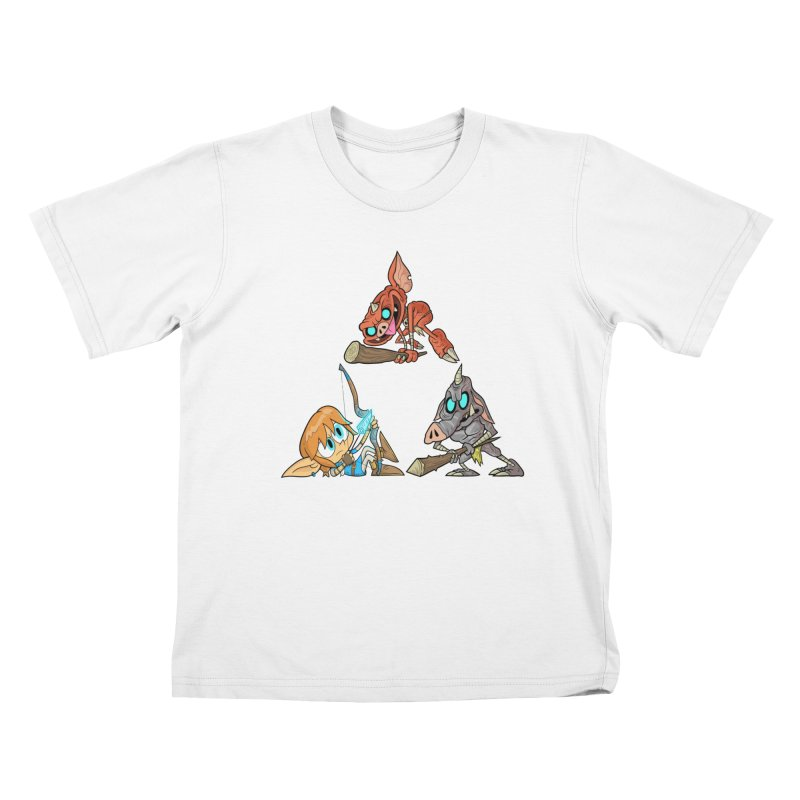 toraifosu Kids T-Shirt by scabfarm