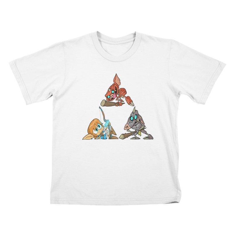 toraifosu Kids T-Shirt by scabfarm