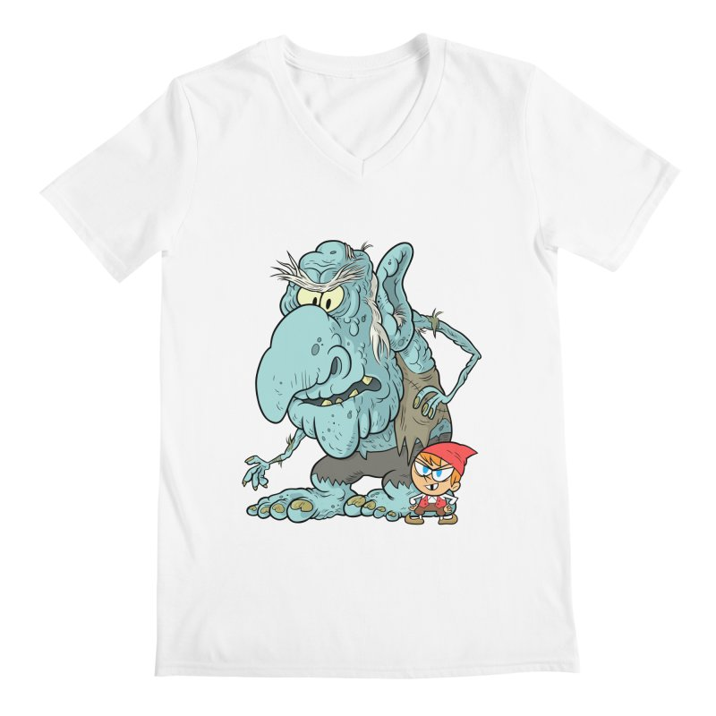 the boy and the troll Men's V-Neck by scabfarm