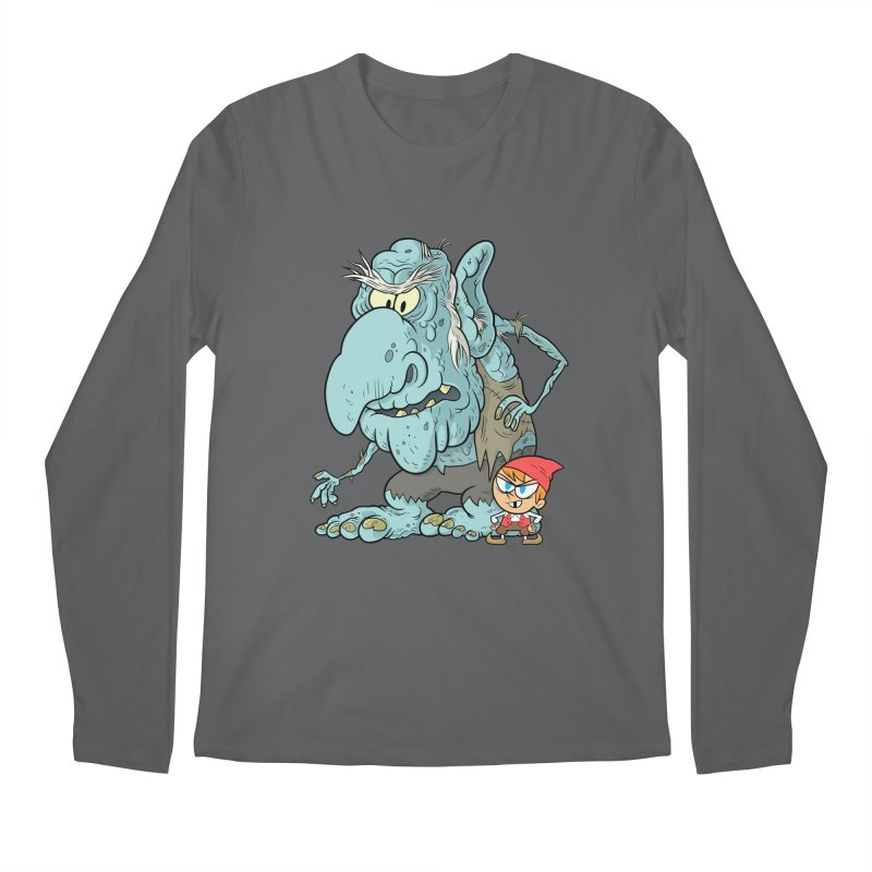 the boy and the troll Men's Regular Longsleeve T-Shirt by scabfarm