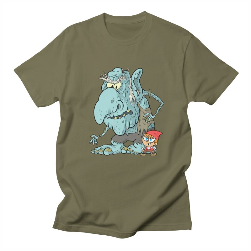 the boy and the troll Men's Regular T-Shirt by scabfarm