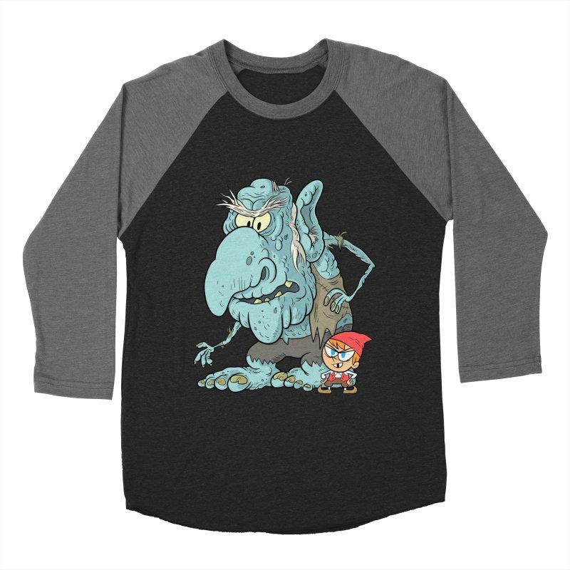 the boy and the troll Women's Baseball Triblend Longsleeve T-Shirt by scabfarm