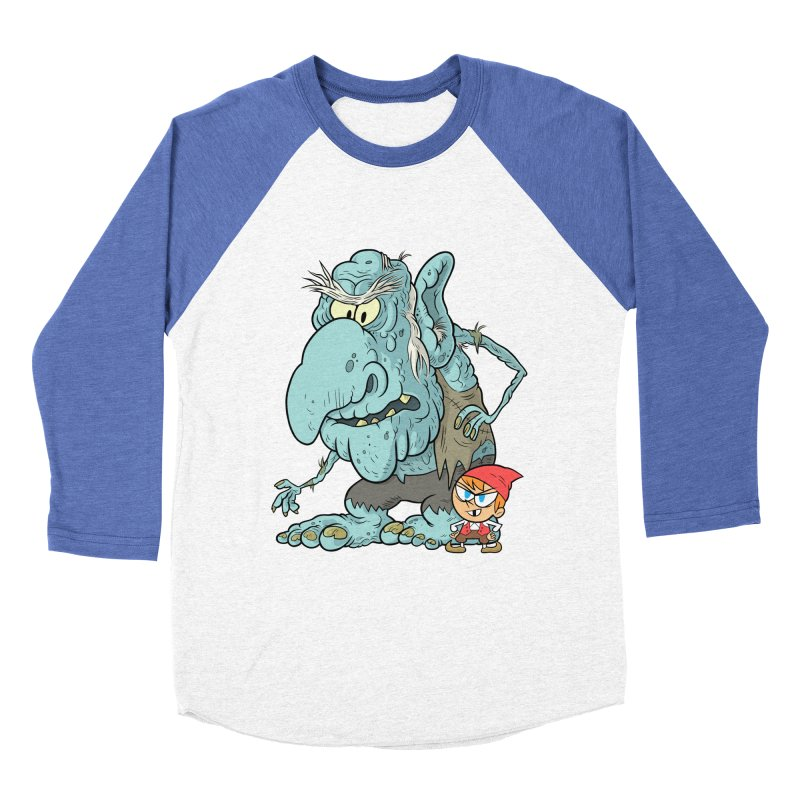 the boy and the troll Men's Baseball Triblend Longsleeve T-Shirt by scabfarm