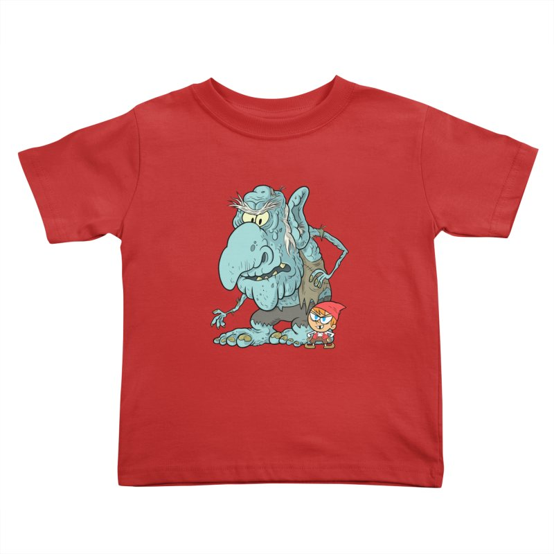 the boy and the troll Kids Toddler T-Shirt by scabfarm