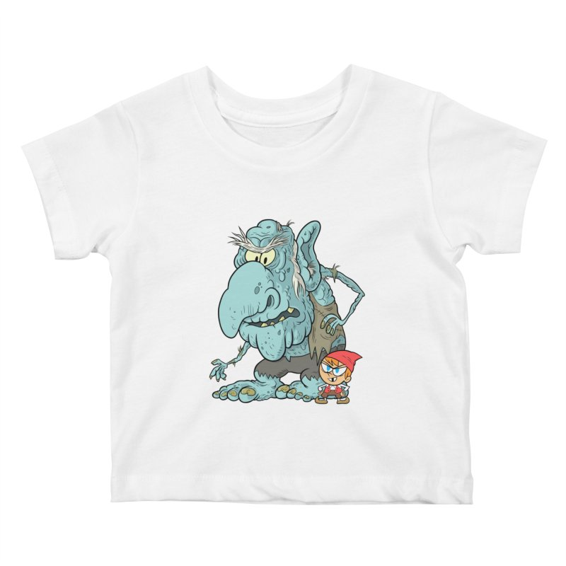 the boy and the troll Kids Baby T-Shirt by scabfarm