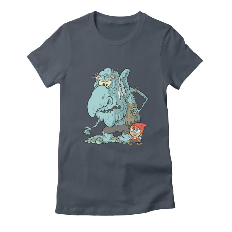 the boy and the troll Women's T-Shirt by scabfarm