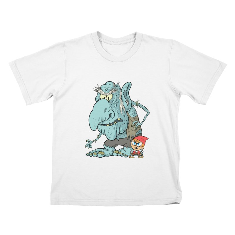 the boy and the troll Kids T-Shirt by scabfarm