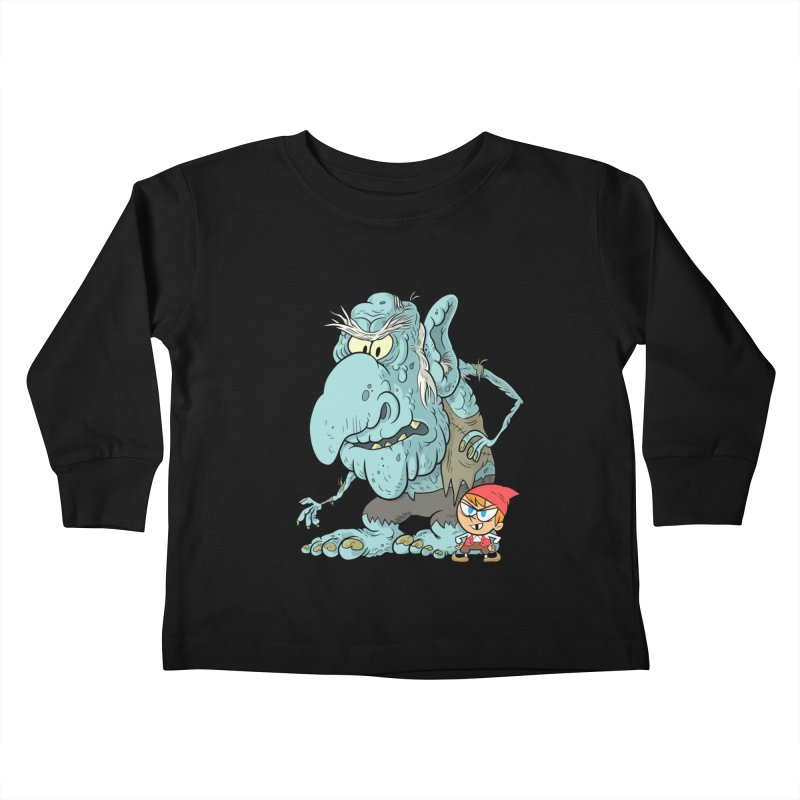 the boy and the troll Kids Toddler Longsleeve T-Shirt by scabfarm