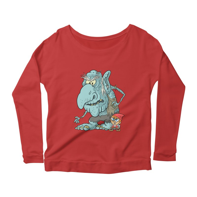 the boy and the troll Women's Scoop Neck Longsleeve T-Shirt by scabfarm