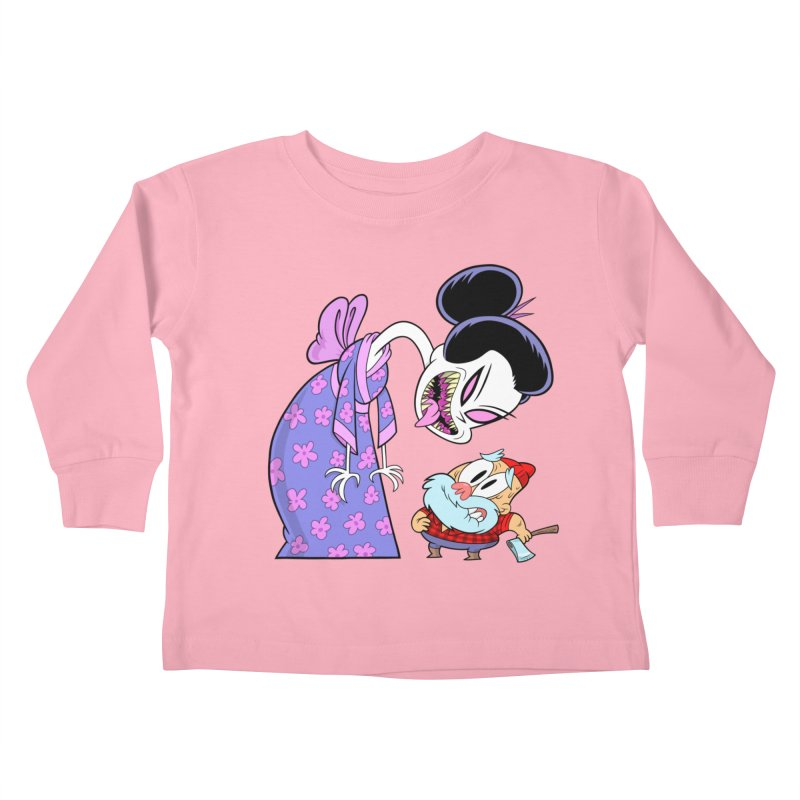jorōgumo Kids Toddler Longsleeve T-Shirt by scabfarm