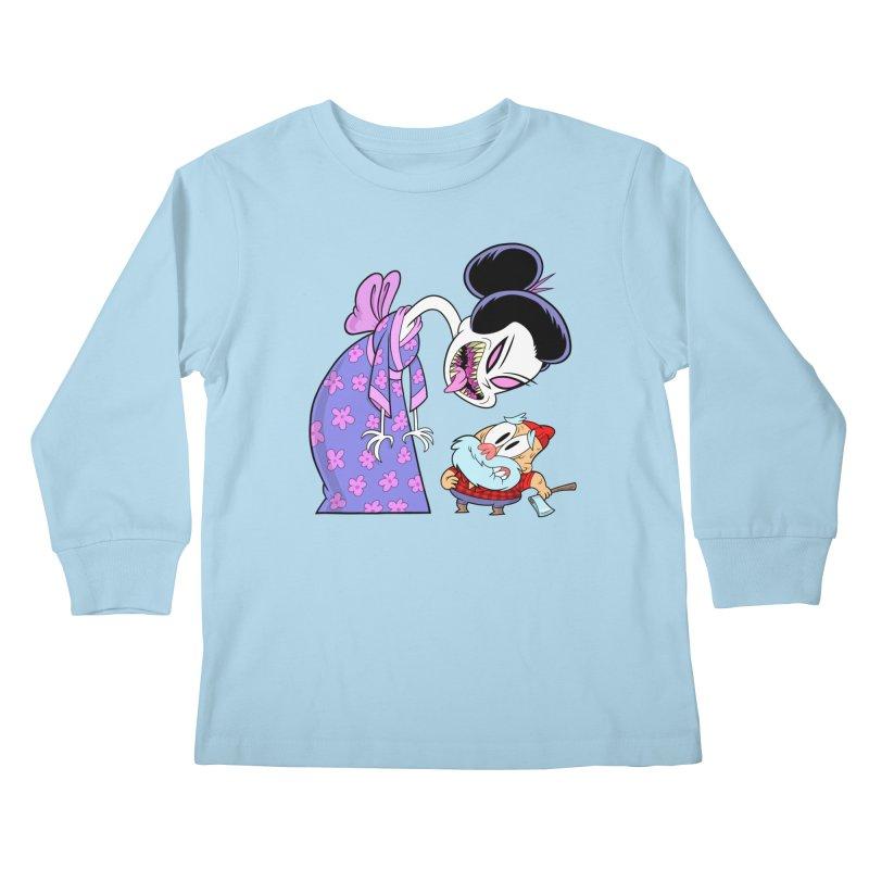 jorōgumo Kids Longsleeve T-Shirt by scabfarm