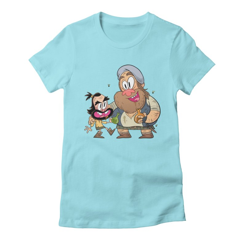suds mackenzie Women's Fitted T-Shirt by scabfarm