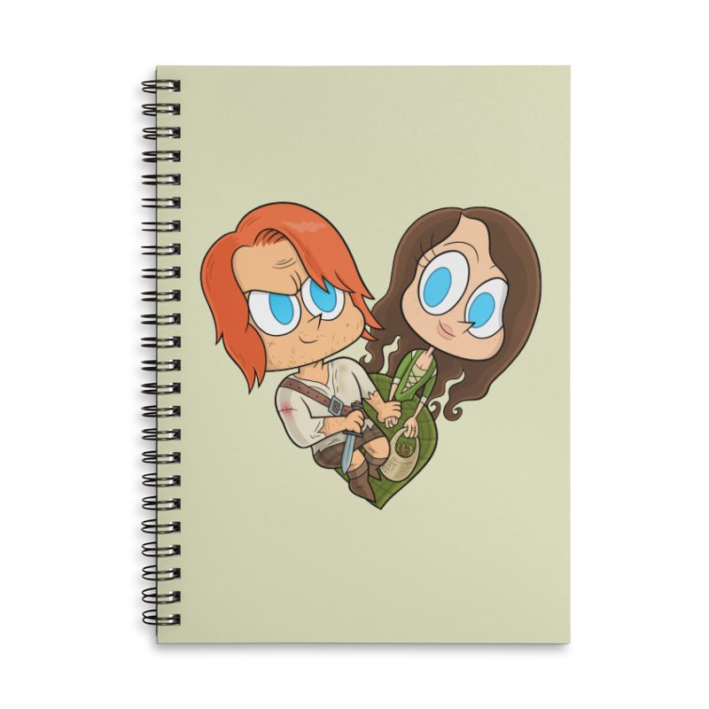 sassenach Accessories Lined Spiral Notebook by scabfarm