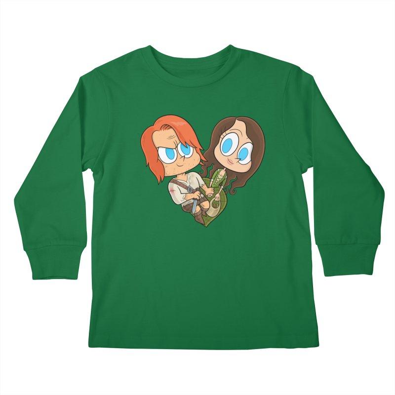 sassenach Kids Longsleeve T-Shirt by scabfarm