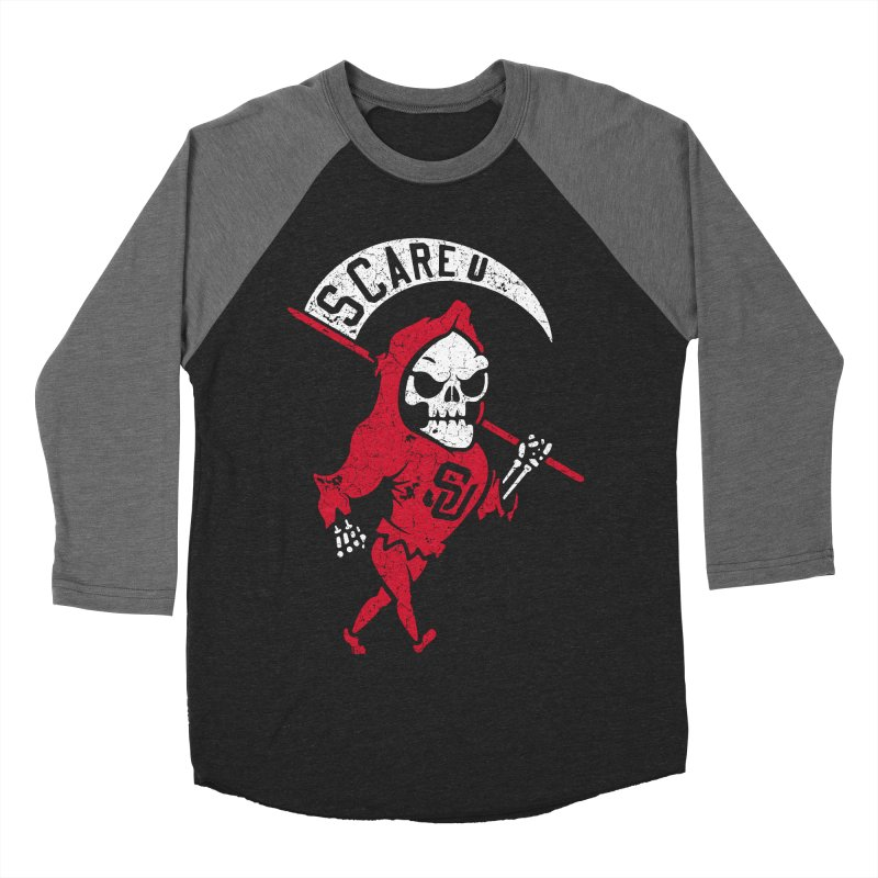 Scare U Reaper Men's Baseball Triblend T-Shirt by Scare U