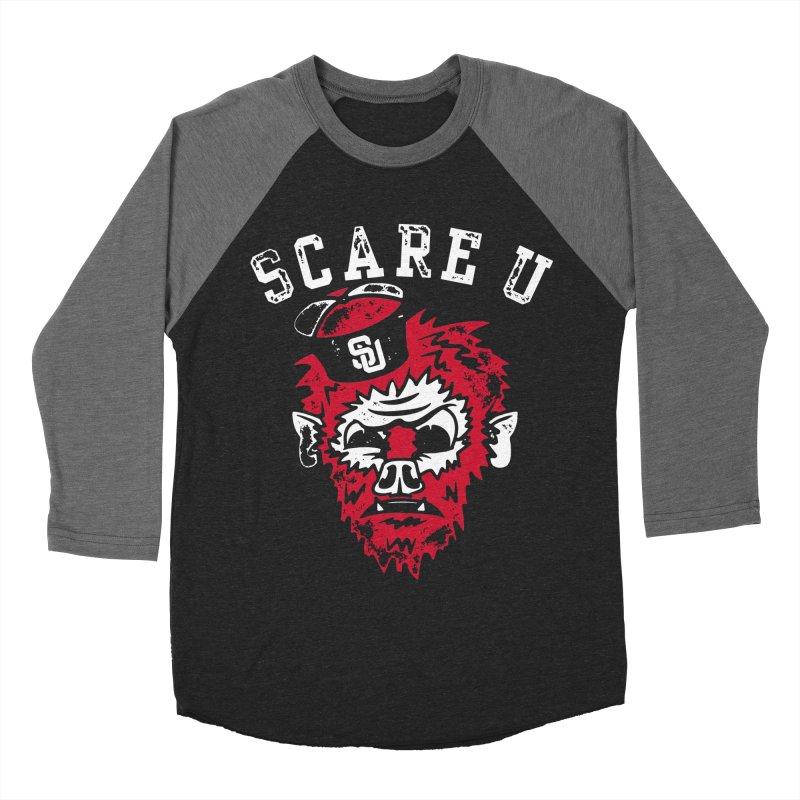 Scare U Wolfman Women's Baseball Triblend T-Shirt by Scare U