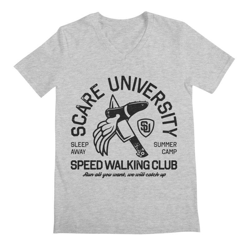 Speed Walking Camp Men's V-Neck by Scare U