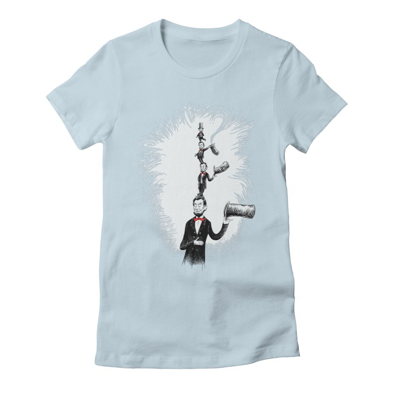 Abe in a Hat Women's Fitted T-Shirt by Scatterbrain Tees
