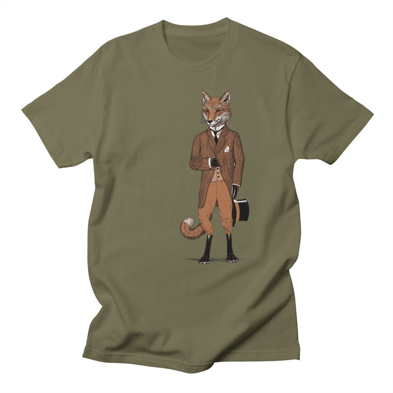 Dapper Fox Men's T-shirt by Scatterbrain Tees
