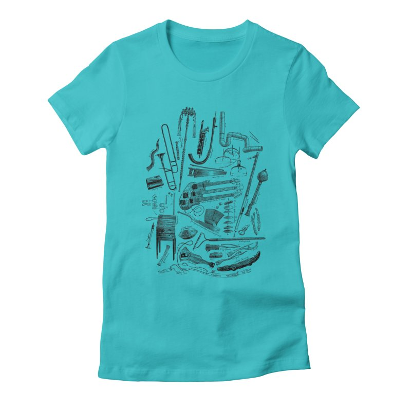 Instrumental Oddities Women's Fitted T-Shirt by Scatterbrain Tees