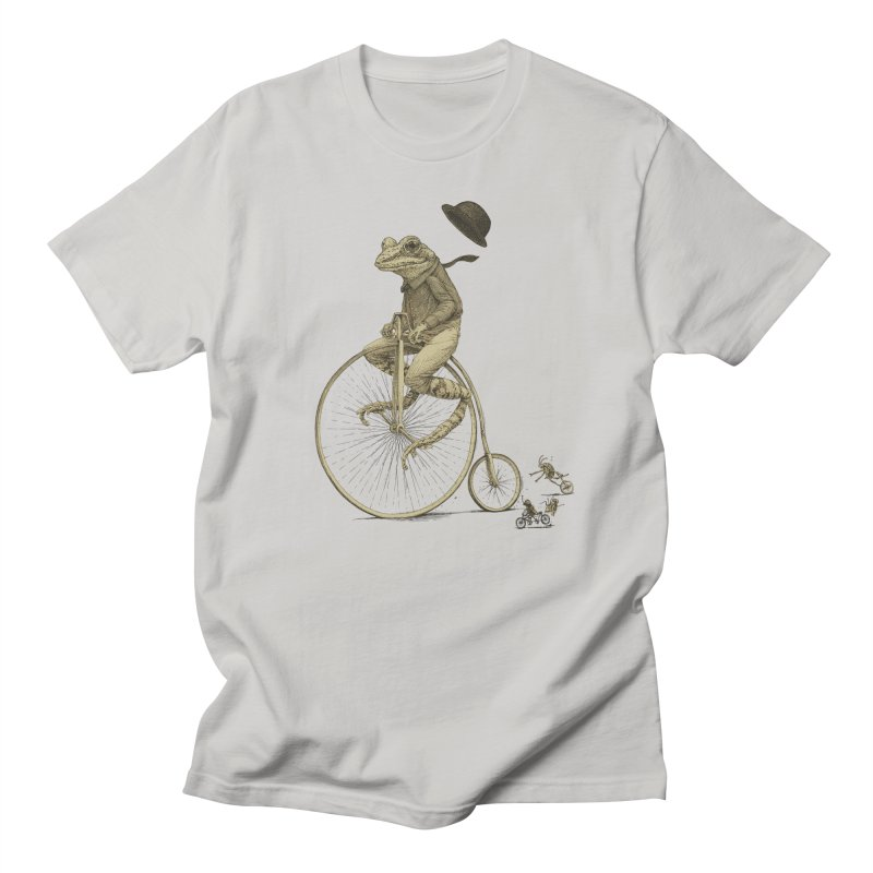 Penny Farthing Frog Men's T-shirt by Scatterbrain Tees