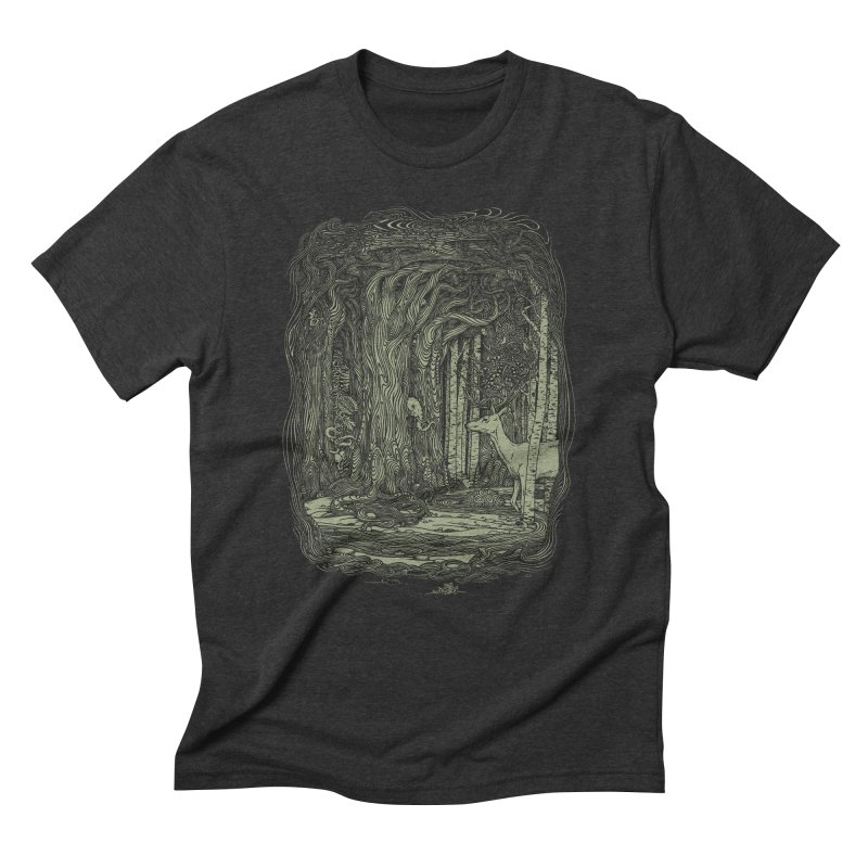 Tangled Forest Men's Triblend T-Shirt by Scatterbrain Tees