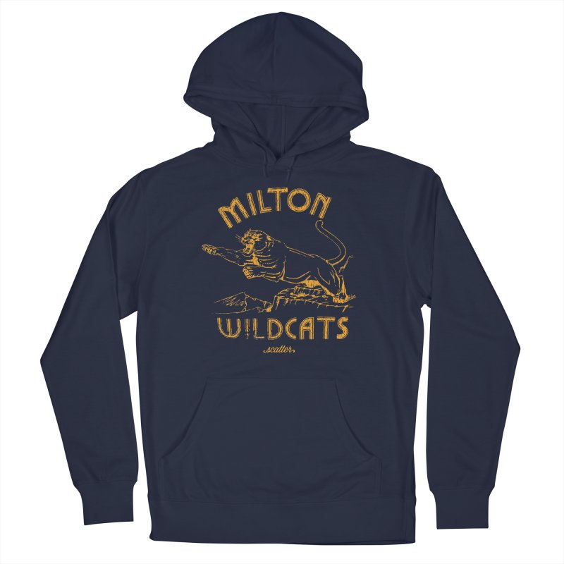 Milton Wildcats Men's French Terry Pullover Hoody by scattercreative's Artist Shop