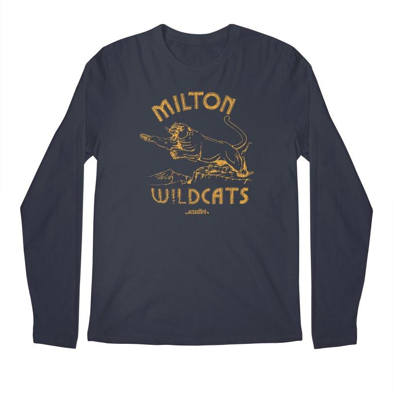 Milton Wildcats Men's Regular Longsleeve T-Shirt by scattercreative's Artist Shop