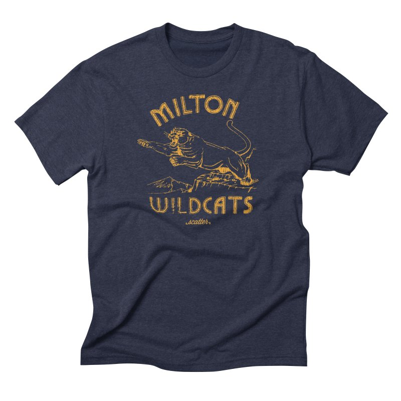 Milton Wildcats Men's Triblend T-Shirt by scattercreative's Artist Shop