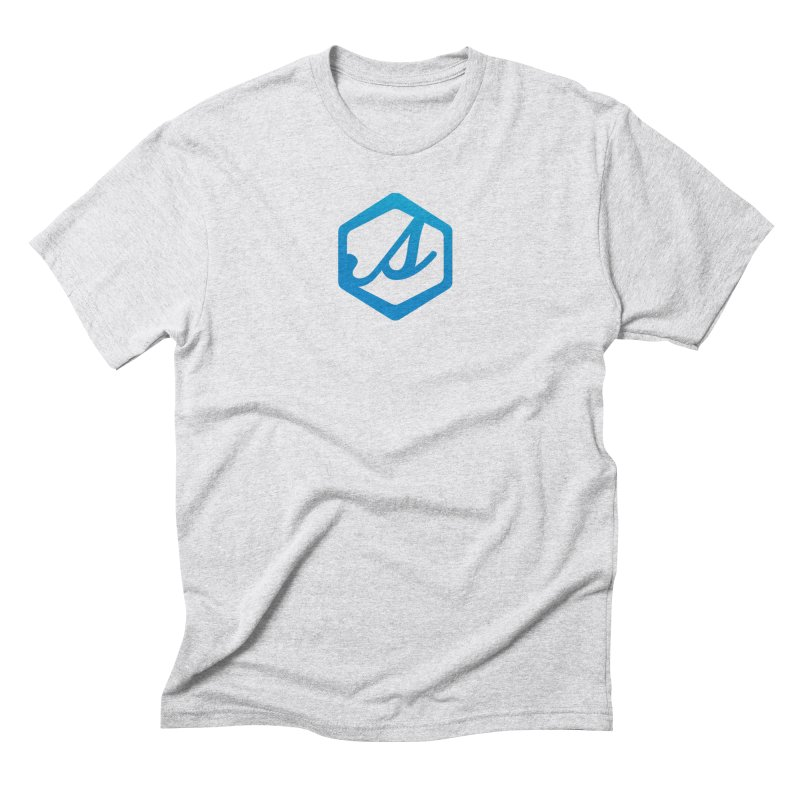 Scatter S Icon in Men's Triblend T-Shirt Heather White by scattercreative's Artist Shop