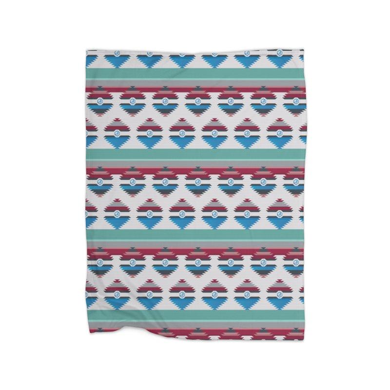 Tribal Blanket in Fleece Blanket Blanket by scattercreative's Artist Shop