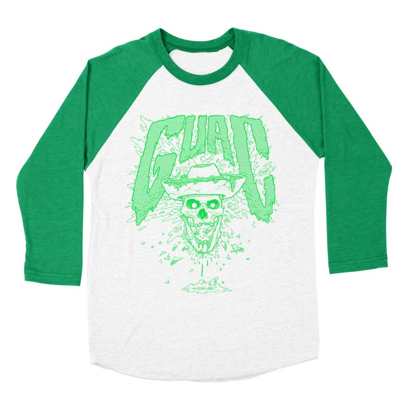 GUAC! in Men's Baseball Triblend T-Shirt Tri-Kelly Sleeves by Jesse Schaller
