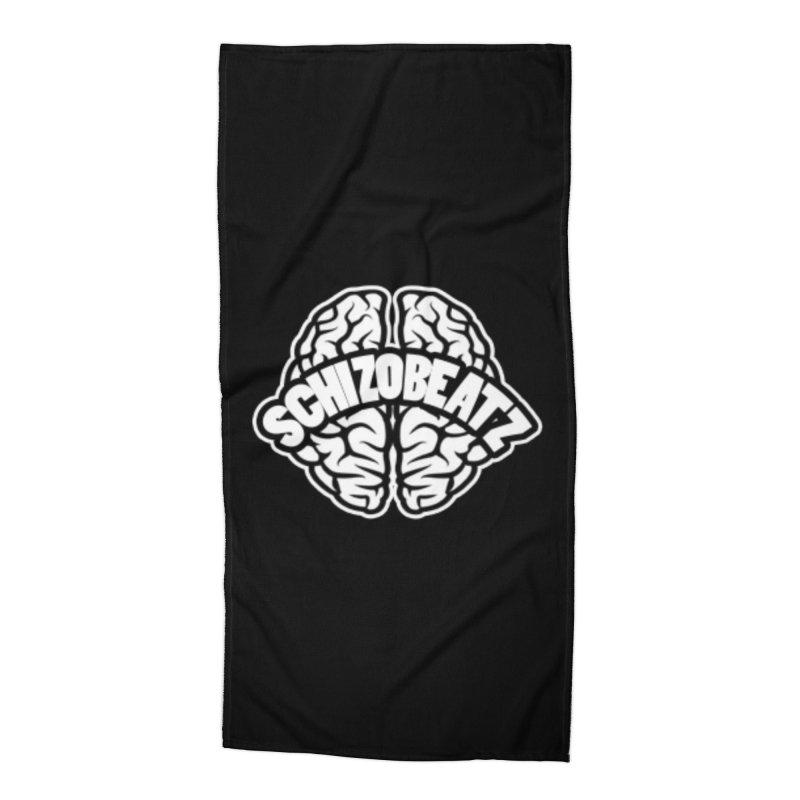 Brain Logo Accessories Beach Towel by Schizo