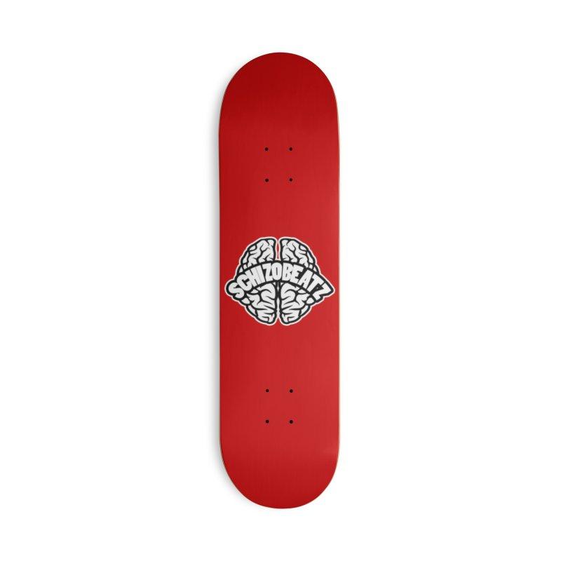 Brain Logo Accessories Skateboard by Schizo