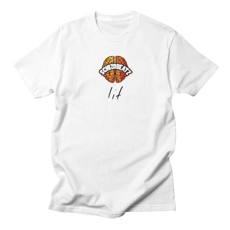 Brain - Fire lit Men's T-Shirt by Schizo