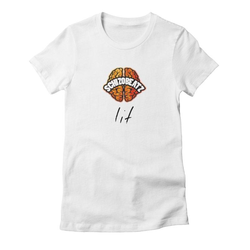 Brain - Fire lit Women's T-Shirt by Schizo