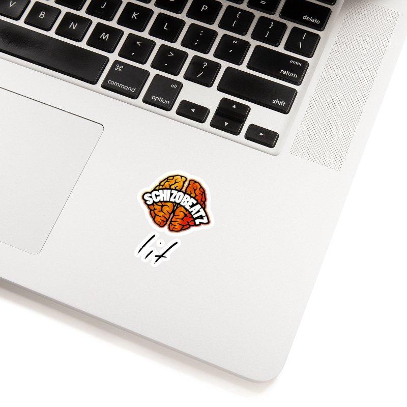 Brain - Fire lit Accessories Sticker by Schizo