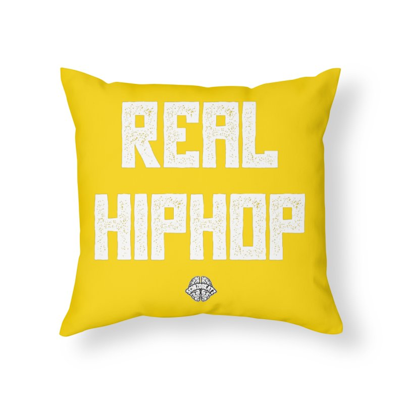 Real Hiphop Home Throw Pillow by Schizo