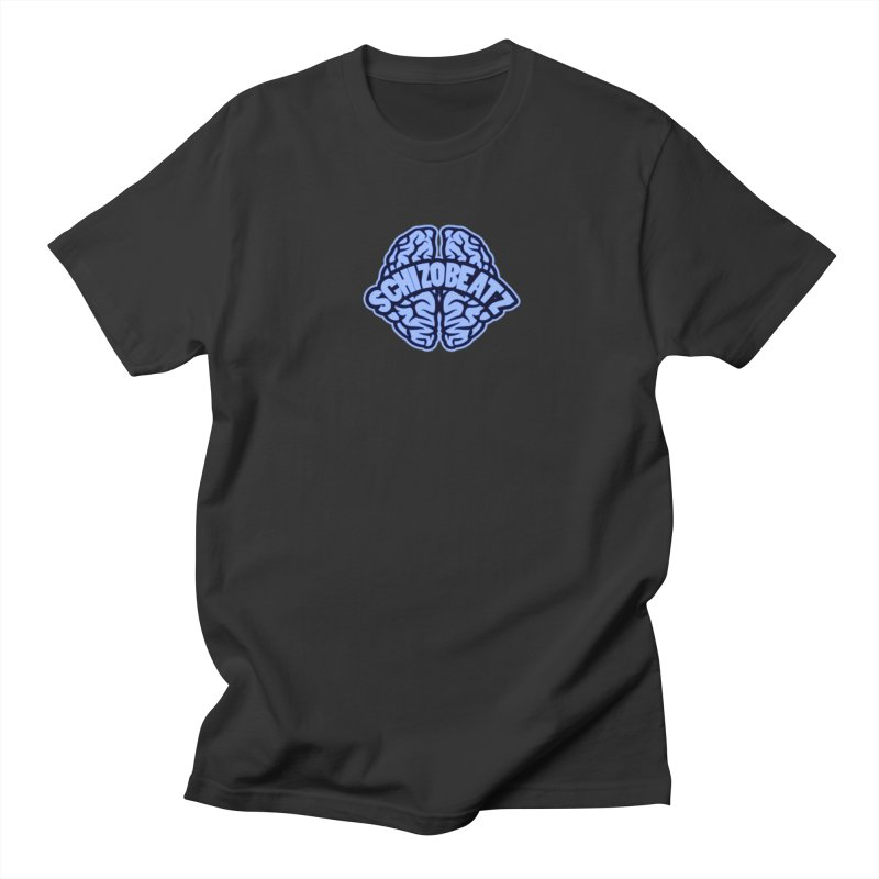 Blue Brain Men's T-Shirt by Schizo