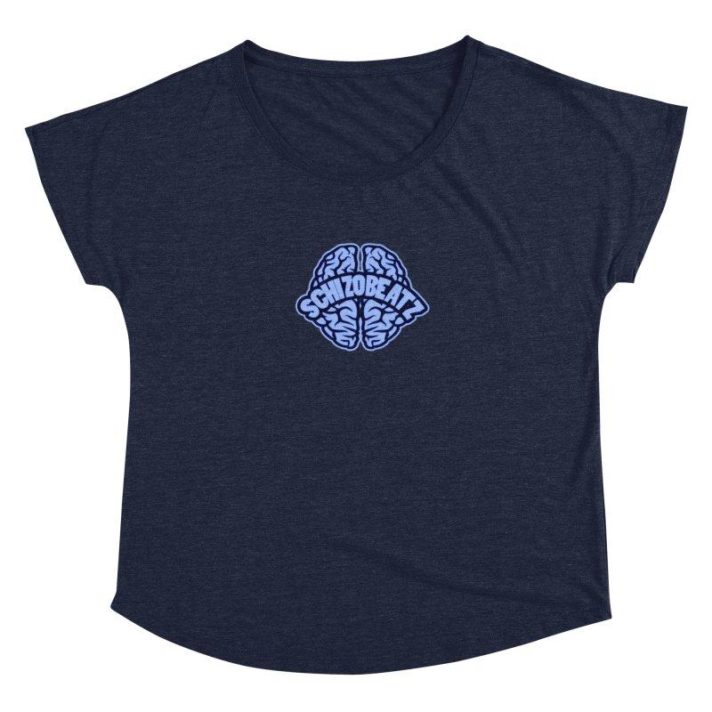 Blue Brain Women's Scoop Neck by Schizo