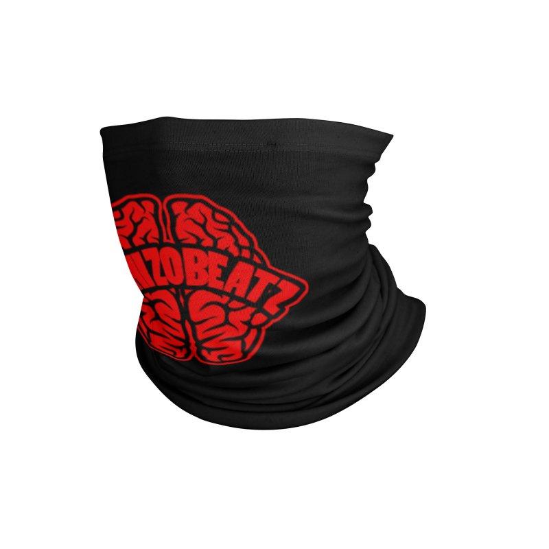 Brain - Red/Blk Accessories Neck Gaiter by Schizo