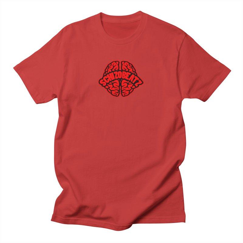 Brain - Red/Blk Men's T-Shirt by Schizo