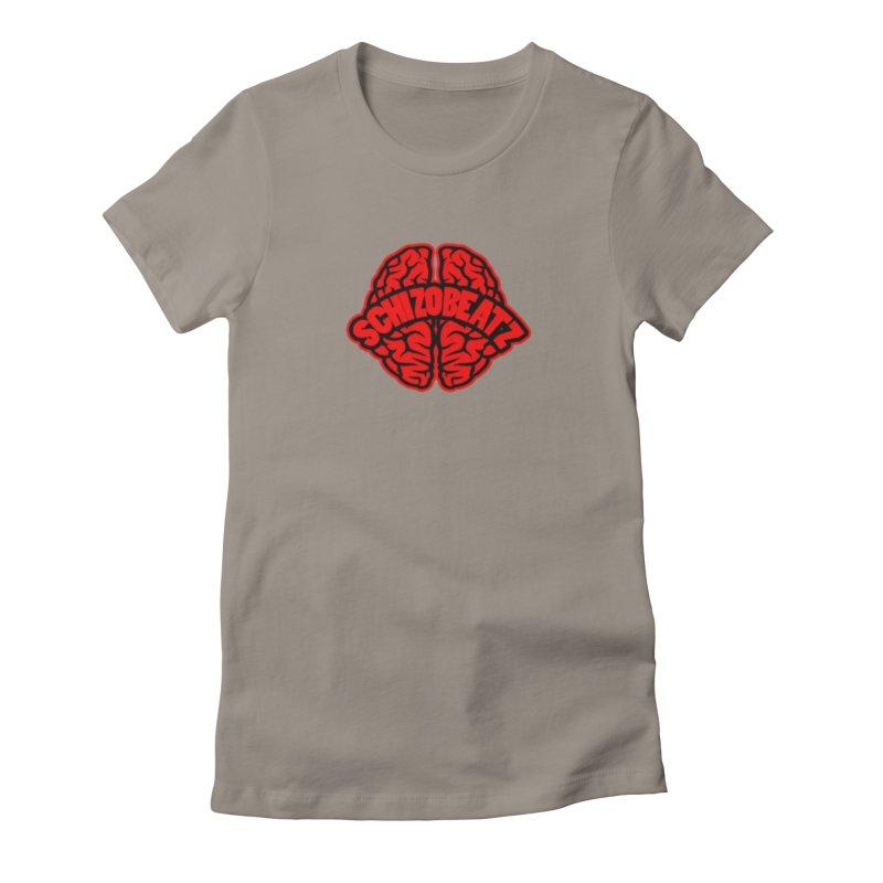 Brain - Red/Blk Women's T-Shirt by Schizo