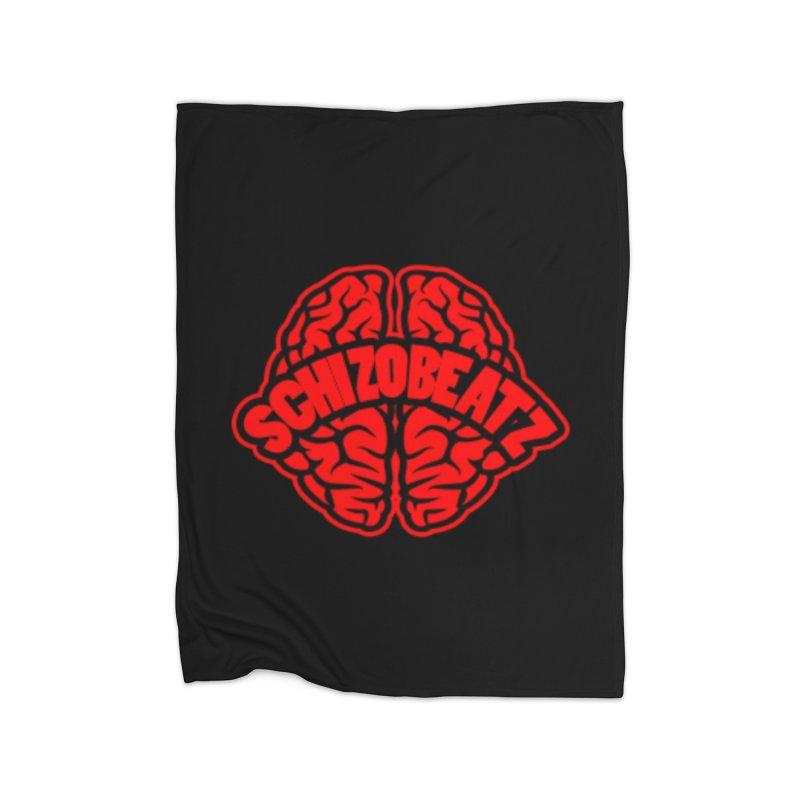Brain - Red/Blk Home Blanket by Schizo