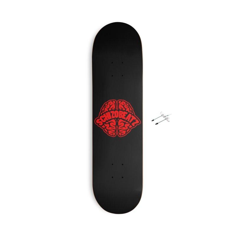 Brain - Red/Blk Accessories Skateboard by Schizo