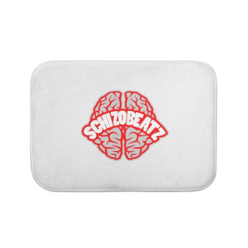 Brain - Red/Grey Home Bath Mat by Schizo
