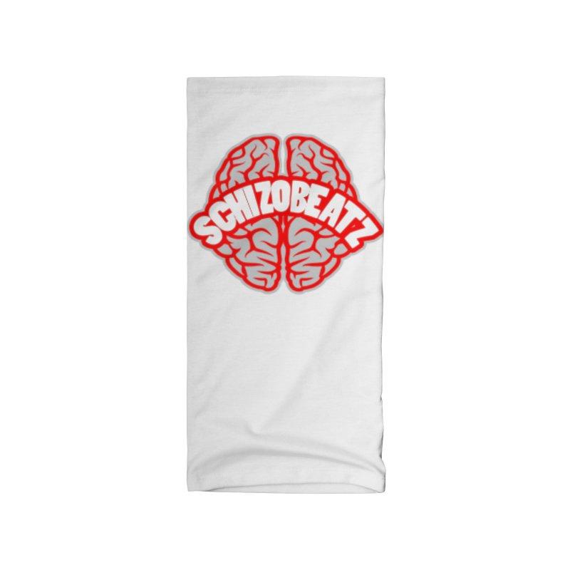 Brain - Red/Grey Accessories Neck Gaiter by Schizo