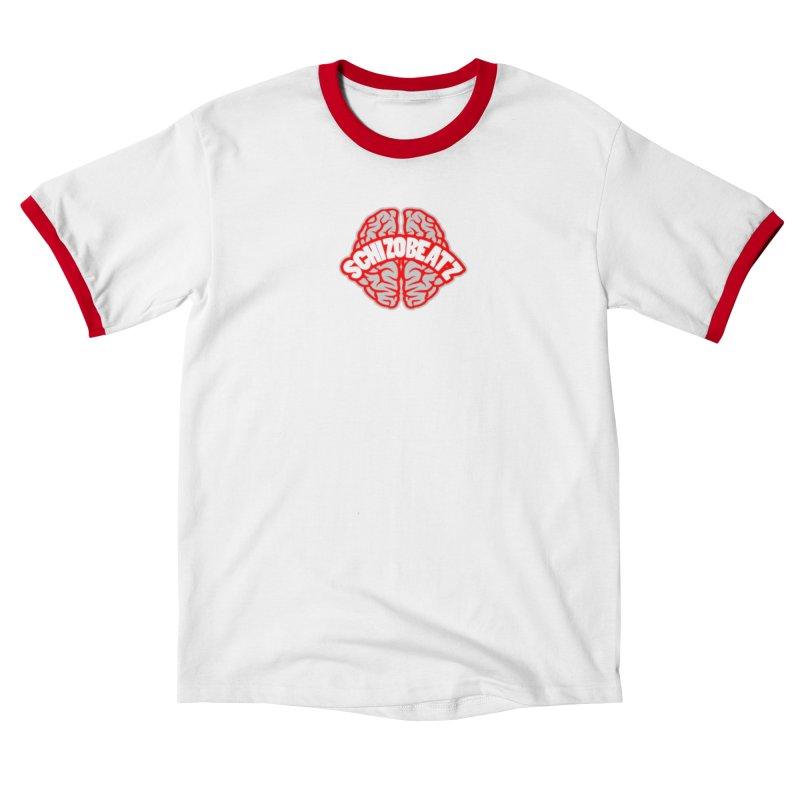 Brain - Red/Grey Men's T-Shirt by Schizo