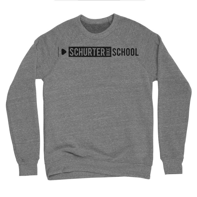 Schurter-Bike-School in Men's Sponge Fleece Sweatshirt Grey Triblend by schurter-bike-school's Artist Shop