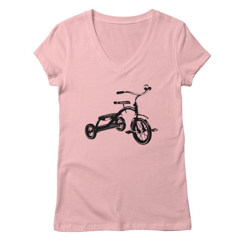 Dreirad in Women's Regular V-Neck Pink by schurter-bike-school's Artist Shop
